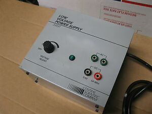 Central Scientific 33031 Low Voltage Power Supply 0 6 Volts Dc 5 Amp Adjustable