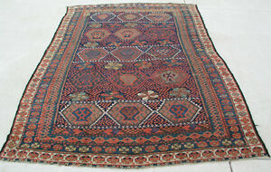 Rare Antique Persian Tribal Jaff Jaf Kurd Rug Carpet 65x94 Exceptional Colors