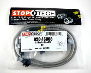 Stoptech Stainless Steel Ss Front Brake Lines For 08 up Mitsubishi Lancer