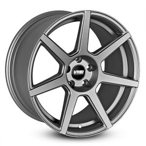19x9 5 Vmr Rims V706 Custom Et35 Matte Gunmetal Wheels set Of 4