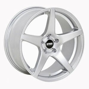 18x9 5 Vmr Rims V705 5x112 Et45 Hyper Silver Wheels set Of 4