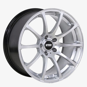 18x9 5 Vmr Rims V701 5x112 Et45 Hyper Silver Wheels set Of 4