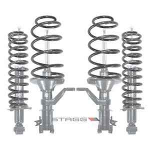 Stagg 4 Shocks Struts 4 Lowering Springs Honda Civic 03 04 05 Incl Si
