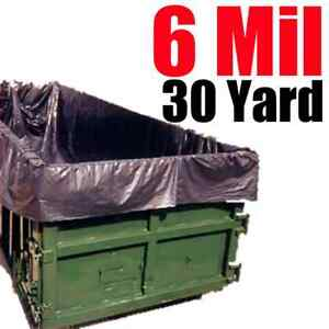 6 Mil 30 Yard Roll Off Dumpster Liner