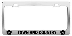 Town And Country Luxury Car Suv Truck Metal License Plate Frame Tag Hol