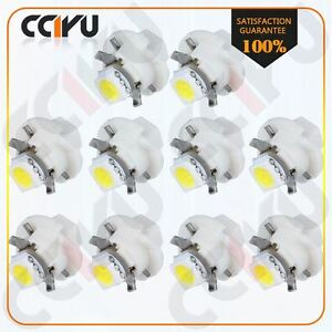 10pcs B8 4d White Led Instrument Cluster Dash Light Bulb For 06 09 Ford Explorer