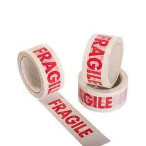 Fragile Tape Used For Warning And Packing 1x Bopp Roll Strong Sticky Carton Tape