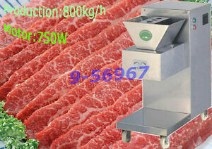Automatic Meat Cutting Machine meat Slicer 800kg h Intensive Hardness Blade