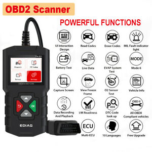 Obd2 Scanner Automotive Engine Fault Code Reader Mode 6 Mode 8 Live Data Graph
