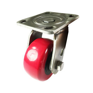 4 X 2 Heavy Duty Stainless Steel polyurethane Wheel Caster Swivel