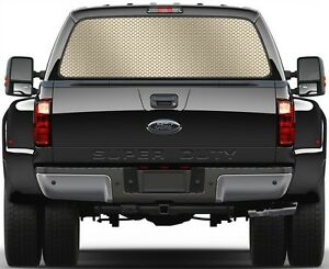 Honey Steel Comb Light Gold Rear Window Graphic Decal For Truck Suv Vans