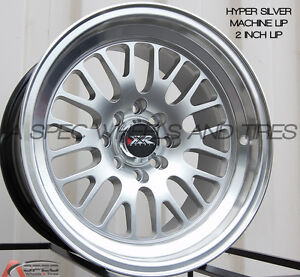 Xxr 531 15x8 Rims 4x100 114 3 0 Silver Wheels Set Of 4