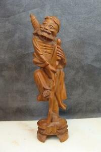 Antique Chinese Carved Boxwood Immortal Figure Statue