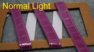 Purple Gloss Sew On Reflective Tape Pvc 3 x1