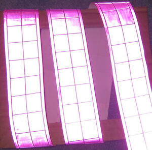 Pink Gloss Reflective Tape Pvc Sew On Material 3 x2