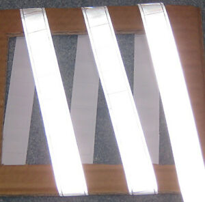 Silver Gloss Sew On Reflective Tape Pvc 3 x1