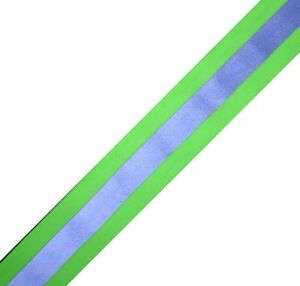 Elastic Silver Lime Sew On Reflective Tape 1 Yardx2