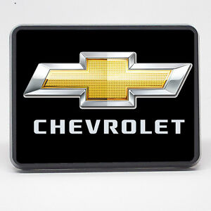 Chevrolet Bowtie Tow Cover Black 2 Inch 2 Trailer Hitch Cover Plug