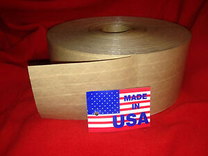 10 Rolls Of 3 X 450ft Hd Reinforced Gummed Tape Water activated Pkg made In Usa