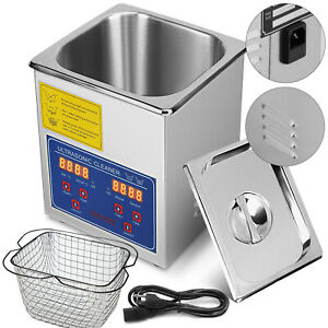 2l Liter Industry Ultrasonic Cleaners Cleaning Equipment Timer Us Local