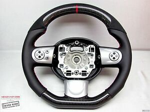 Mini Cooper S R56 R61 Gp Coupe Jcw Flat Bottom Small Thick Carbon Steering Wheel