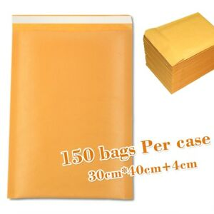 Hot150 Yellow Kraft Bubble Mailers Padded Envelopes Bags 30 X 40 4cm