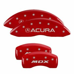 Mgp Caliper Brake Covers For Acura 2014 2016 Mdx Red Paint 39013smdxrd