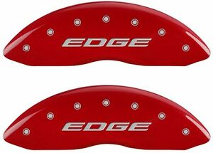 Brake Mgp Caliper Dust Covers Front Rear Edge Red Paint For Ford Edge 2015 2016