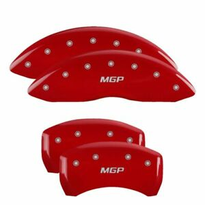 Mgp Caliper Brake Covers For Dodge 11 19 Charger Red Paint 12162smgprd