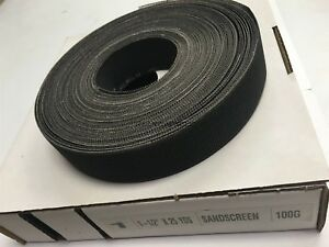 1 1 2 X 25 Yards Production Abrasives 100 Grit Open Weave Emory Roll