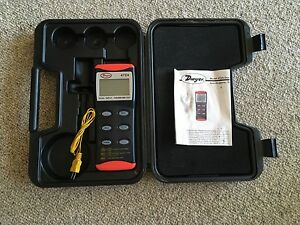 Dwyer 472 A Dual Input Thermocouple Thermometer