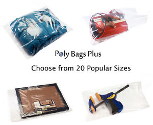 1000 1 5 Mil Clear Poly Bags Lay flat Open Top Packing Ldpe Plastic Baggies