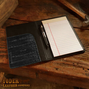 Black Eel Notebook Padfolio Amish Handmade Notepad Portfolio Case