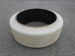 Pro Tire Super Solid Forklift Tire 22x8x16 06645002 White Heavy Equipment