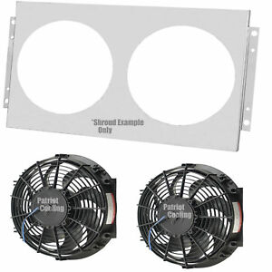 22 Inch Core Early Mopar Aluminum Radiator Fan Shroud 10 Fans 15 7 8 h X 21 1