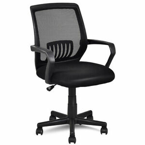 Modern Ergonomic Mid back Mesh Computer Office Chair Desk Task Task Swivel Black