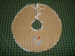 Cardinals Ornaments Branch Embroidered Tree Skirt 18 Christmas Country