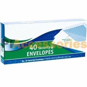 40 Ct 10 Regular Security White Letter Mailing Shipping Envelopes 4 1 8 X 9 1 2