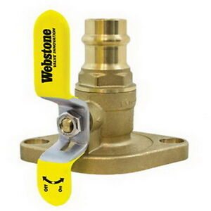 Webstone Valve 8140 Pro Connect The Isolator Brass Uni flange Ball Valve 1