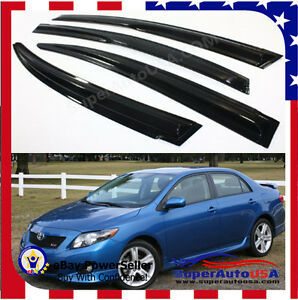 Jdm Mugen 3d Style Smoked Window Visor Vent Shade For 2009 2013 Toyota Corolla