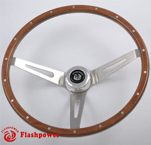 15 Laminated Wood Classic Steering Wheel Ford Econoline Truck Mustang 3 Bolt