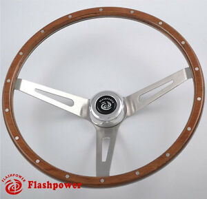 15 Laminated Wood 3 Bolt Classic Steering Wheel Ford Econoline Truck Mustang