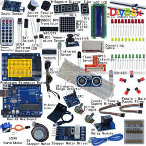 Ultimate Uno R3 Starter Kit 1602 Lcd Servo Motor Relay Rtc Led For Arduino Uno