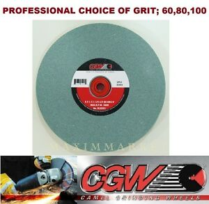 8 X 1 X 1 1 4 1 2 Cgw Bench Or Pedestal Grinding Wheel Green Silicon Carbide