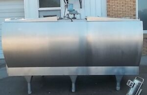 Mueller 1250 Gallon Stainless Steel Flat Top Bulk Milk Tank M20875