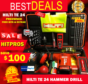 Hilti Te 24 Preowned L k Excellent Condition Free Bits Knife Hat Laser Vest