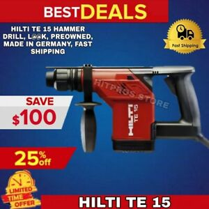 Hilti Te 15 Hammer Drill L k Preowned Made In Germany Fast Shipping