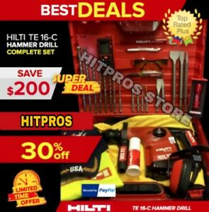 Hilti Te 16 c L k Excellent Condition Free Extras Strong Fast Shipping