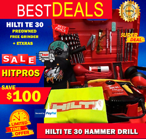 Hilti Te 30 Mint Cond Fast Shipping Free Grinder Bits Knife Glasses And Mo