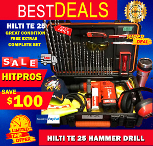 Hilti Te 25 L k Great Condition Preowned Free Extras Fast Ship